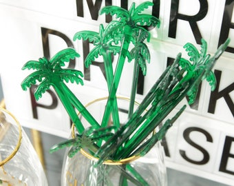 25 Palm Tree drink stirrers