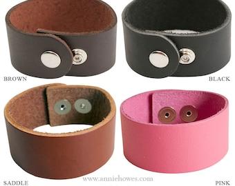 Boho Leather Cuff Bracelet 1.25 Inch Width