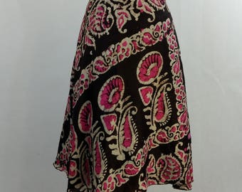 indian silk wrap skirt