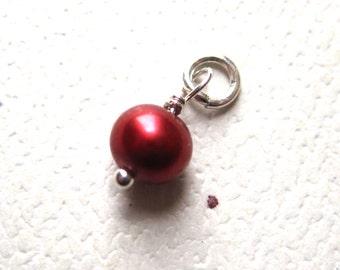 Genuine Copper Berry  Pearl  Dangle Charm