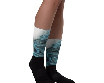 Fluid Acrylic Art | Antarctica | Sublimated Socks