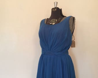 Vintage Chiffon Dress / Medium/Large / She Swims at Night