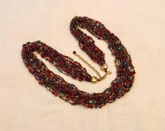 Joan Rivers Torsade Beaded Statement Necklace