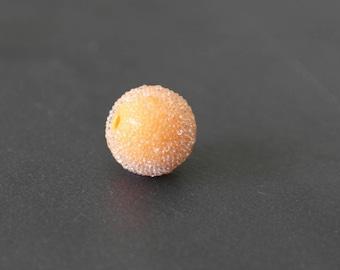 Pearl effect sugar color orange light 13 mm
