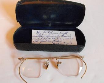 Vtg Prescription Eyeglasses Wire Rim   (1131)