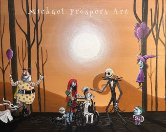 Nightmare before Christmas  12 x 24, acrylic on canvas,  ORIGINAL by Michael H. Prosper