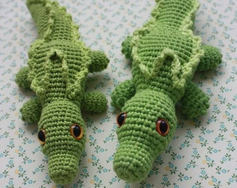 Crochet Amigurumi Crocodile PATTERN - Toy PDF Tutorial - Instant Download - Printable - In English
