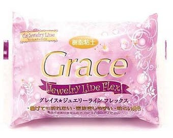 Nisshin Grace Resin Clay Jewelry Line Flex 200g from Japan - Fake sweets / Bag accessories / Craft Supplies / Japanese Clay / Air Dry Clay
