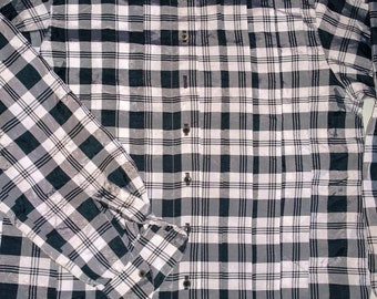 Lisa Ho Australia~Classic 1980s Baggy/Square Cut CHECKED BLOUSE