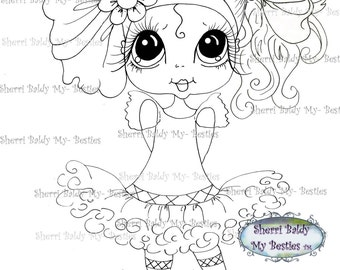 INSTANT DOWNLOAD Digital Digi Stamps Big Eye Big Head Dolls Digi  Remixxie 2 By Sherri Baldy
