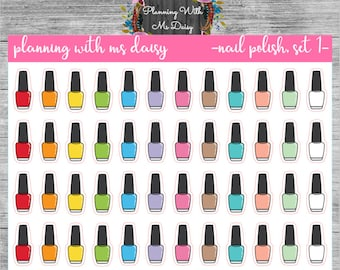 Nail Polish Stickers (Choose from 2 Color Sets)