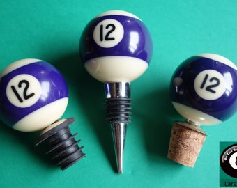 Number 12 Pool/Billiard Ball Wine Bottle Stopper