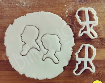 Pride and Prejudice inspired cookies cutters | classic biscuits cutters, jane austen novel, Elizabeth Bennet and Mr Darcy English Romance