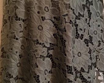 Khaki colored lace wedding shawl