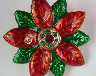 Red and Green Poinsettia For Christmas Holidays - 5643