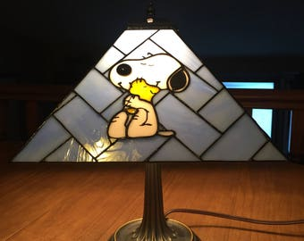 Custom Made Stained Glass Lamps. 14 Inches By 12 1/2 Inches.