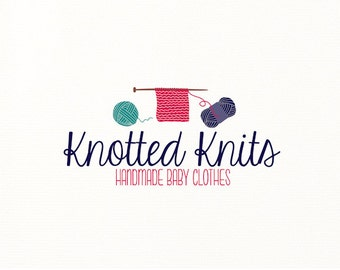 knitting logo yarn crochet sewing needles - Logo Design #702