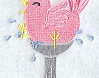 Bird Towel - Bird Bath Towel - Bird Towel - Embroidered Towel - Flour Sack Towel - Hand Towel - Bath Towel - Apron - Fingertip Towel