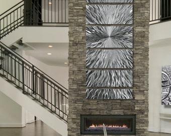 Large Silver Multi Panel Modern Metal Wall Art Sculpture Contemporary Metal Wall Art Abstract Home Decor - Vortex by Jon Allen & Metal Wall Art Abstract Sculptures u0026 by JonAllenMetalArt on Etsy