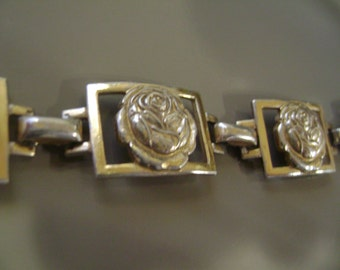 Coro sterling with gold wash bracelet