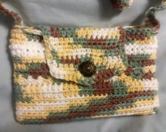 Nook Bag, Amazon Fire Bag, small totebag, small purse, small shoulder bag, crocheted bag, crocheted purse