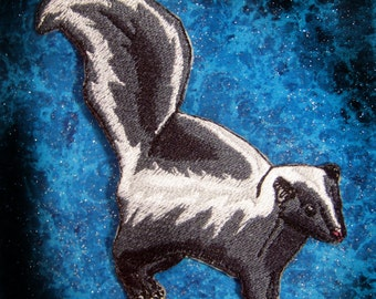 Striped Skunk Mephitis mephitis Iron on Patch ready to ship