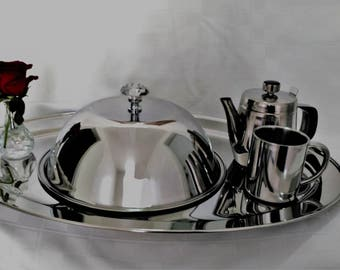 The Breakfast in Bed Collection   (4-Piece Stainless Steel set)