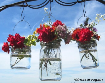 DIY Vase Hangers Wide Mouth Mason Jar Wedding Flower Frog LIDS, Ball Canning Jar Flower Vase Lids Only