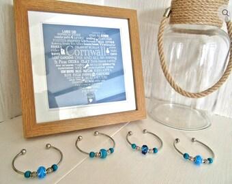 Nautical Bead Bangle Bracelet