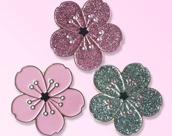 Outlet price! 30% off Sakura Cherry Blossom flower pin Japanese