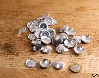 50 Sets x 36L Self Cover Button Blanks Sewing Craft 23mm Hand Making Metal Loop