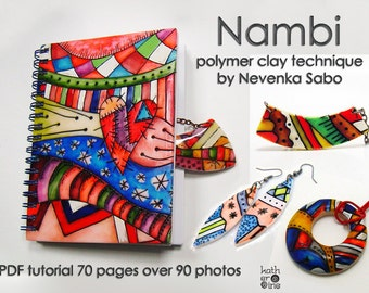 Polymer clay tutorial, PDF tutorial, Nambi technique, E- book, Original tutorial, DIY craft idea, Step by step instructions, Best seller