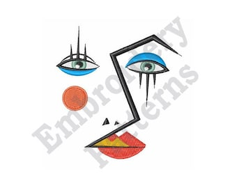 Face Art - Machine Embroidery Design
