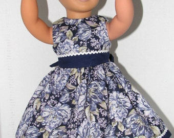 """Spring Dress for 18"""" Dolls. Made in USA fits American Girl, Our Generation Dolls"""
