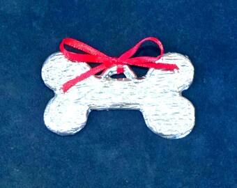 Dog Bone Pewter Ornament