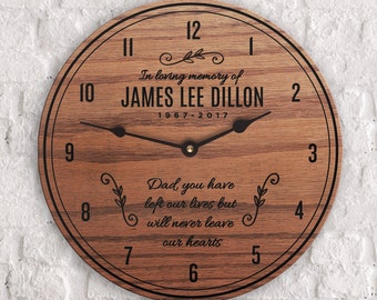Memorial Gift Dad - Memorial Gifts for Loss of Father - Memorial Gift for Men - Memorial Gift Ideas - Dad Memorial Clock