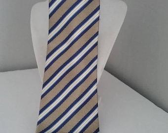 Men's Tie, Vintage Tie, Silk Tie, Vintage Geoffrey Beene Tie, Geoffrey Beene Italian Silk Tie, Steampunk Tie, Diesel Punk Tie, Striped Tie