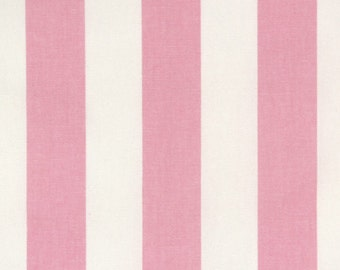 Table Runner Pink and White Stripes