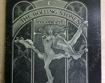 Rock LP The Rolling Stones In Concert Vintage Berkeley Records Vinyl