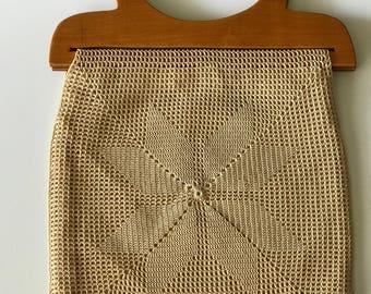 Vintage Macrame Summer Purse Handbag