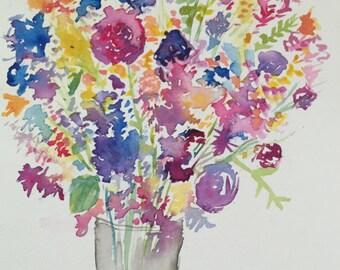 Watercolor Bouqet Print