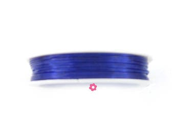 10 m nylon elastic Royal Blue transparent Crystal 0.8 mm (19 (A)