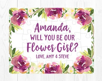 Flower Girl Puzzle Proposal Flower Girl Proposal Puzzle Will You Be My Flower Girl Puzzle Proposal Purple Flower Girl Proposal Gift Cute