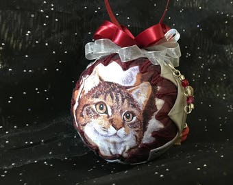 "3"" Handcrafted Quilted Custom-Made Pet Ornament"