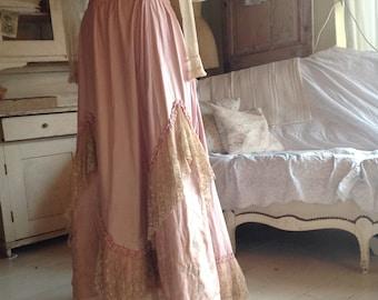 atque 1880s victorian  petticoat skirt