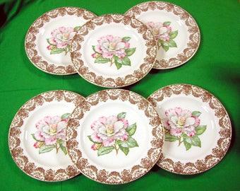 Six RUTH ANNE Dinner Plates, Royal China