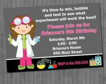 FLASH SALE 60% Off Little Scientist Birthday Invitations