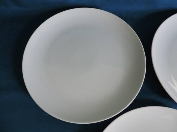 Set of 3 White Mikasa Sophisticate 7 3/8 Salad Plates