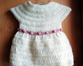 Rosebuds top  - CROCHET PATTERN for girls sweater size 6 months to 4 yo - baby/toddler