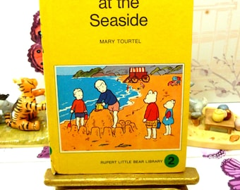 Rupert at the Seaside Mary Tourtel Little Bear Library number 2 1970s Vintage Hardback Rupert Book 1st Ed